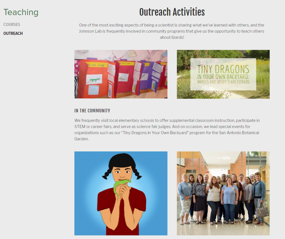 Outreach Page