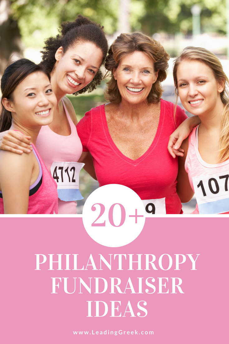 20+ philanthropy fundraiser ideas — leading greek