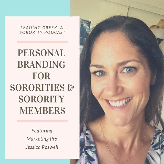 *New episode alert* 🚨 #Marketing pro Jessica Roswell shares her expertise on personal branding! Take in all her great advice on how to cultivate an effective personal brand - we talk about the importance of showing potential new members, your current members, potential employers, your community, and the public what sororities are all about. Lots of great nuggets for everyone, even without the #sorority angle! Thank you so much for sharing, @jlroswell #personalbranding #marketingpro #leadinggreek