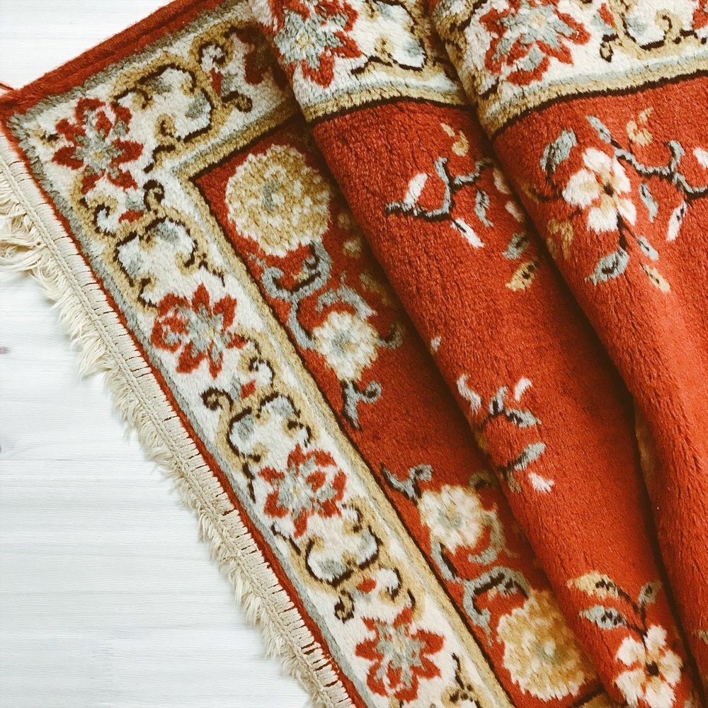 Vintage Oriental Floral Runner (Rug) | $65