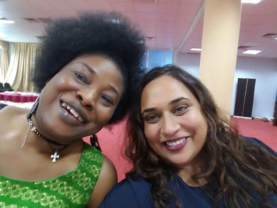 Rajasvini Bhansali (right) with Mariann Bassey Orovwuje.