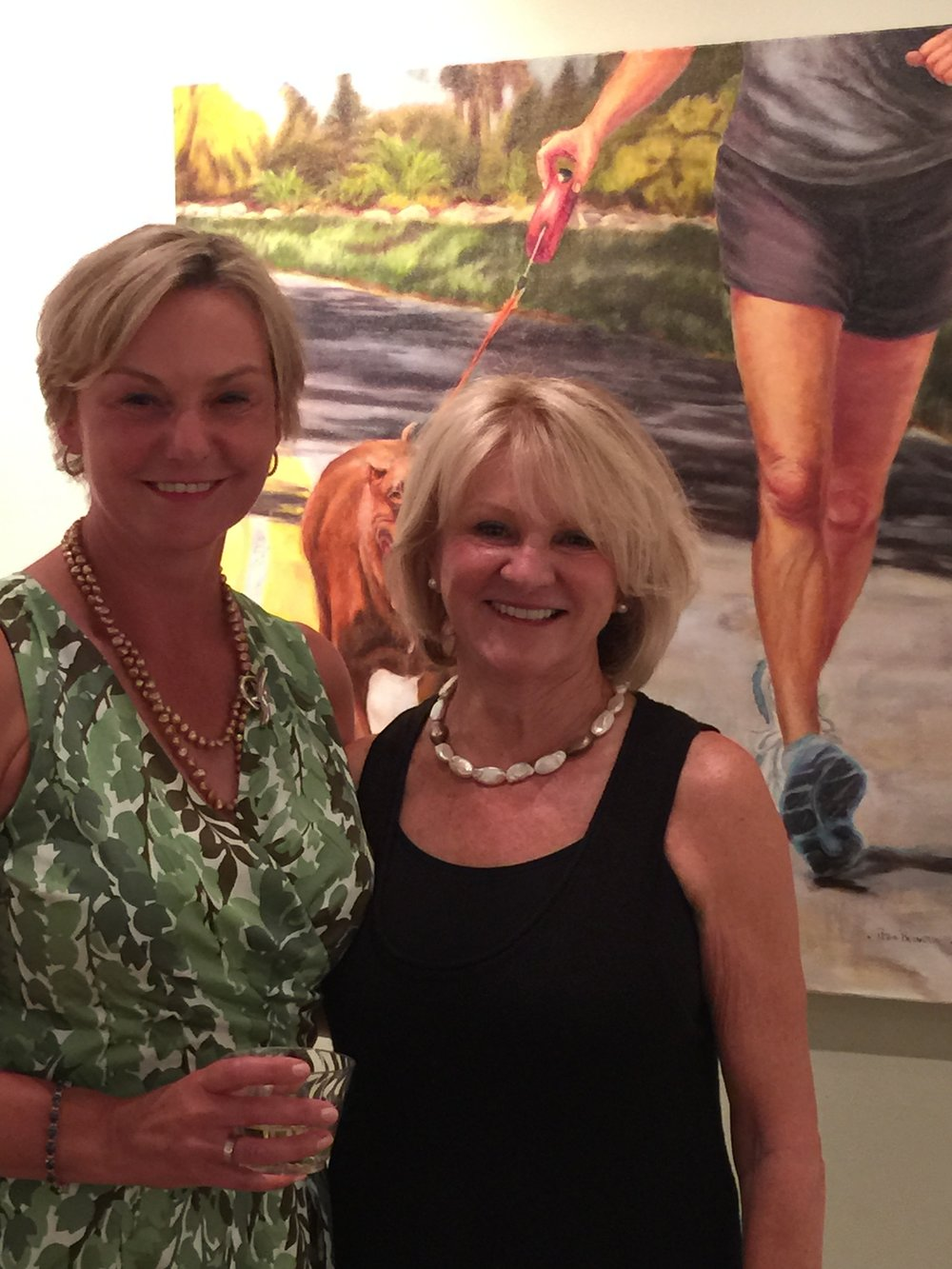 2015 Opening of my Solo Exhibit with my model Linda Mills