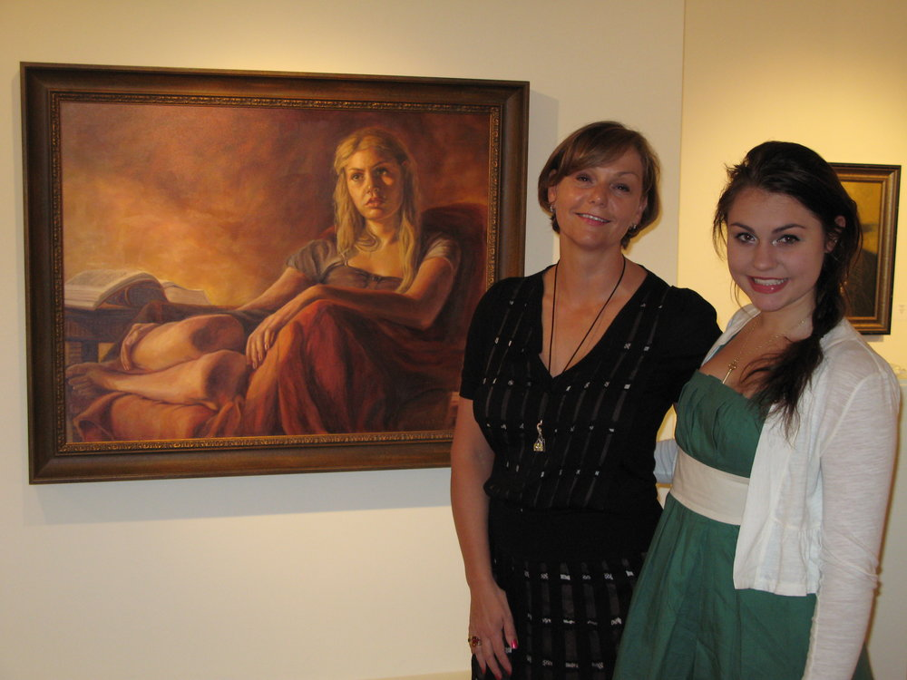 "2010 People's Choice Award for ""Modern Muse"" at the AI&G, Salisbury, MD with Sarah Bernstein"