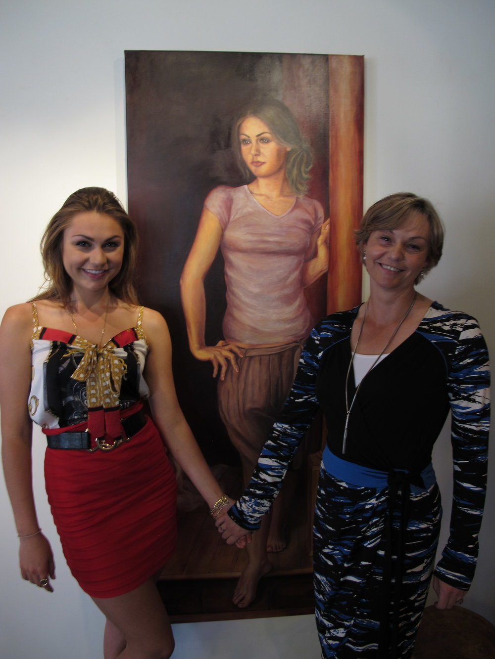 2011 with my favorite model, Sarah Bernstein at Bishops Stock Fine Arts Gallery in Snow Hill, MD