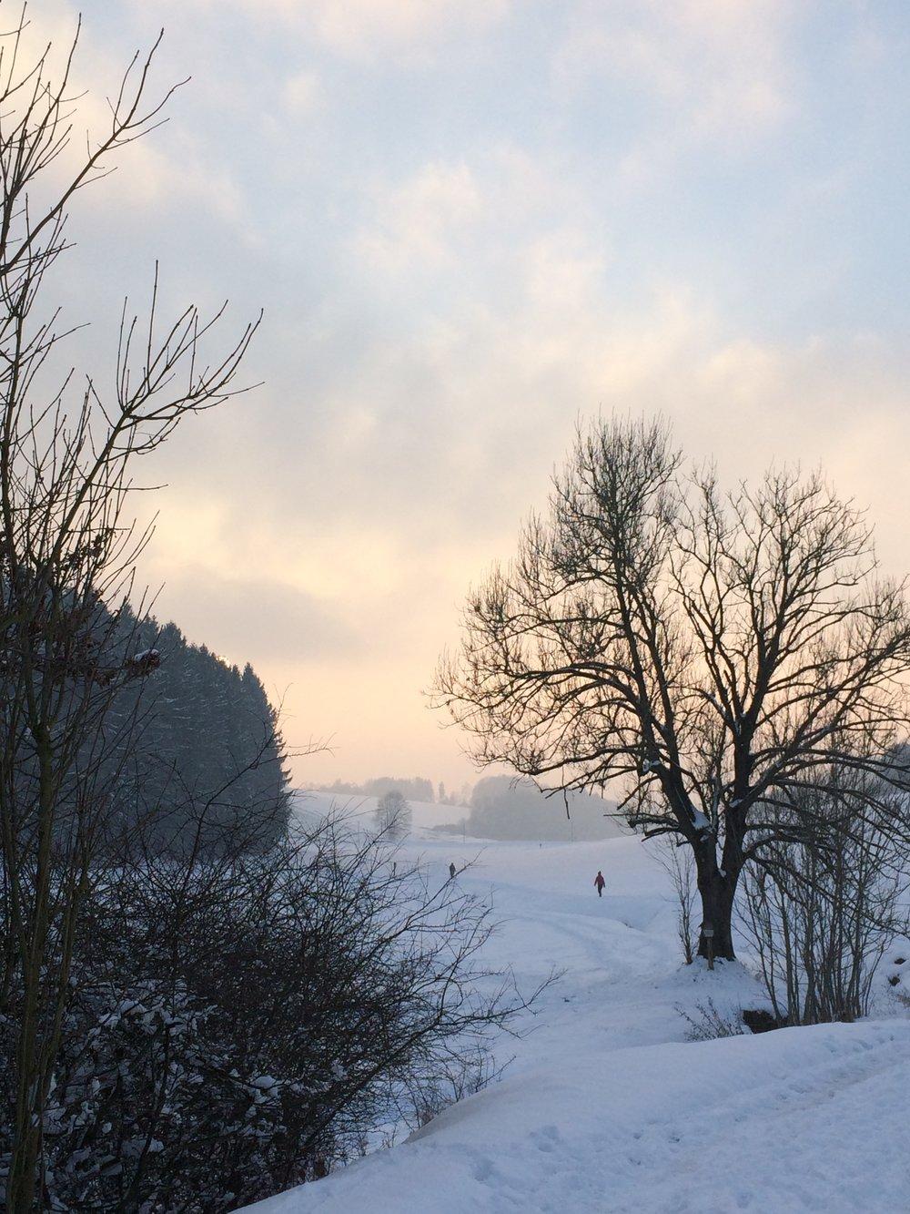 Im Schnee nach Kumhausen