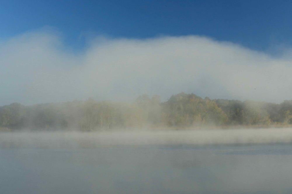 White Fog Cloud over the Wicomico