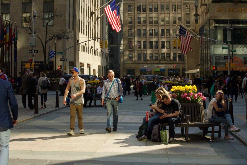 Springtime at Rockefeller Plaza III