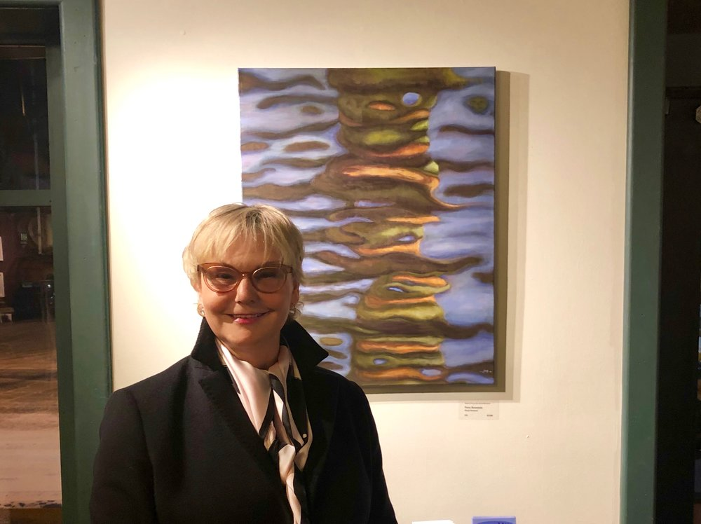 Opening Reception of Winter Abstracts Art Exhibit at Bishop's Stock Gallery in Snow Hill, Maryland on February 1st, 2019