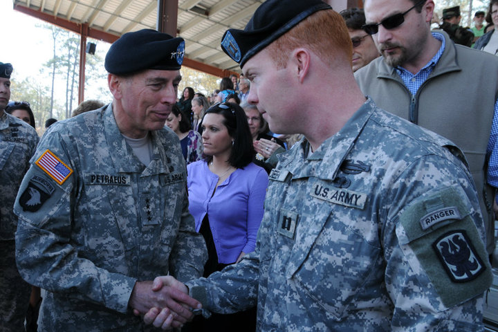 Gen Petraeus and I at his son's Ranger School graduation.