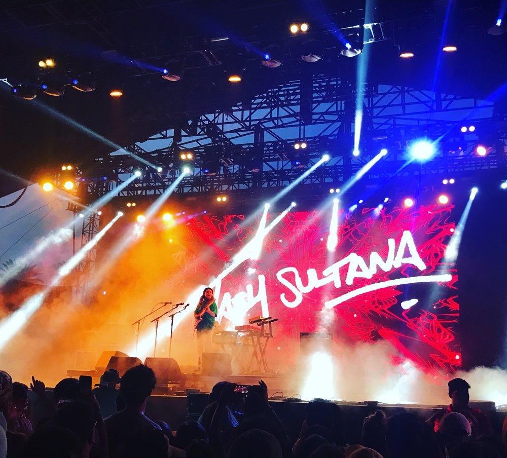 Tash Sultana on the Mojave Stage. Saturday, April 21.