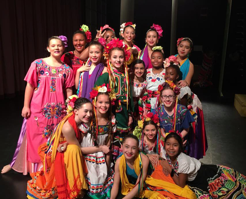 Our Jr. Company girls for Legend of the Poinsettia Photo by: Christina Mastroianni