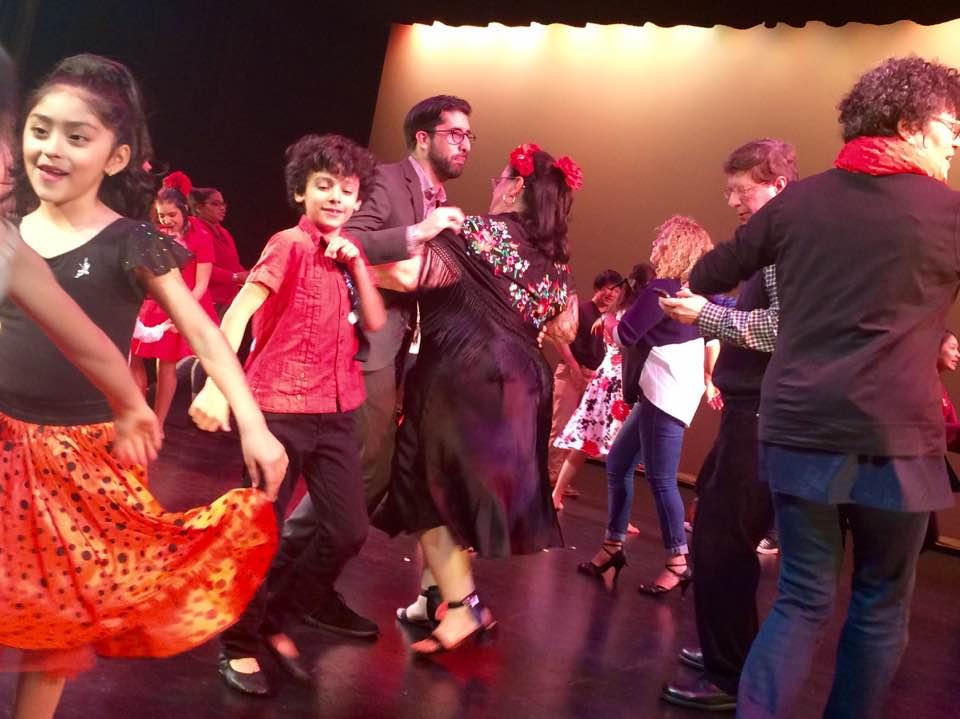 Author and Journalist, Julia Torres Barden dances Photo by:Jazmin Gatto de Torres
