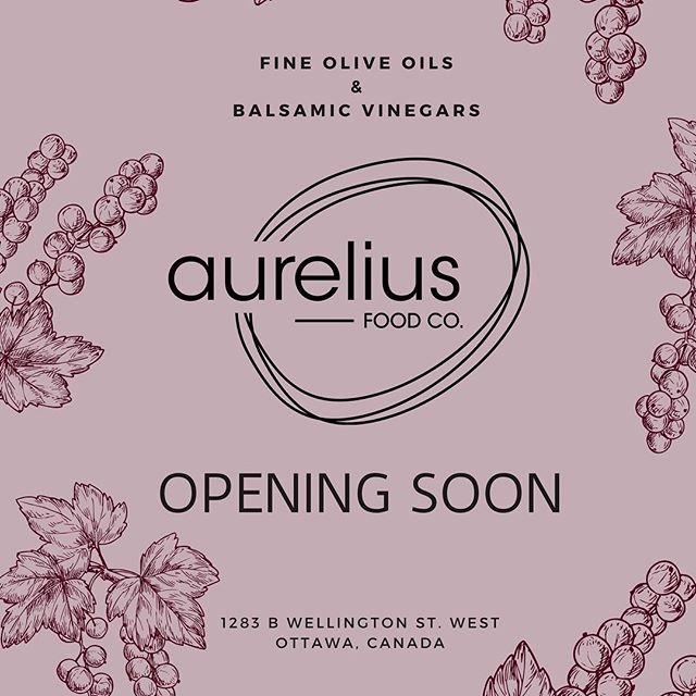 OPENING SOON!  Be on the look out as we get closer to being ready for you in our brand new retail location! Don't worry, you can still get your favourite small bath extra virgin olive oil and Balsamico in the mean time, just call or send us an email!