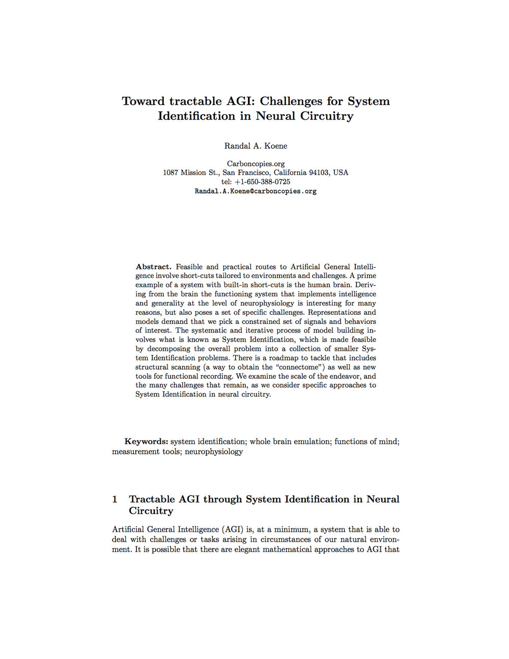 Copy of Toward tractable AGI: Challenges for System Identification in Neural Circuitry