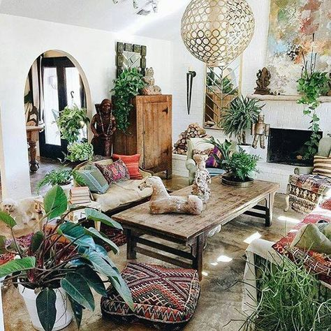 Plants are key, bring the outside in with clusters of greenery in your living spaces... no room should be without.   Image: Pinterest