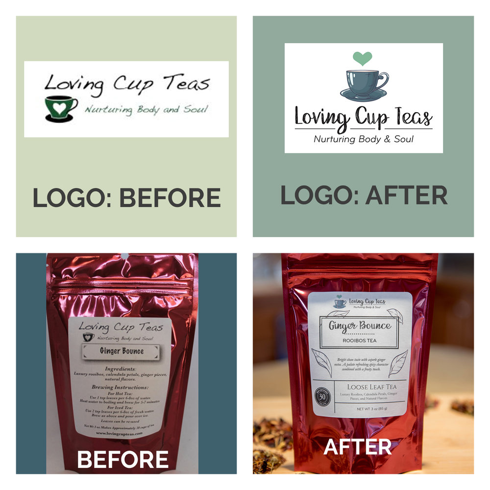 LOGO & PACKAGE DESIGN BEFORE & AFTER