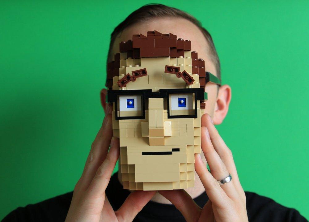 LEGO head designed by David Pagano