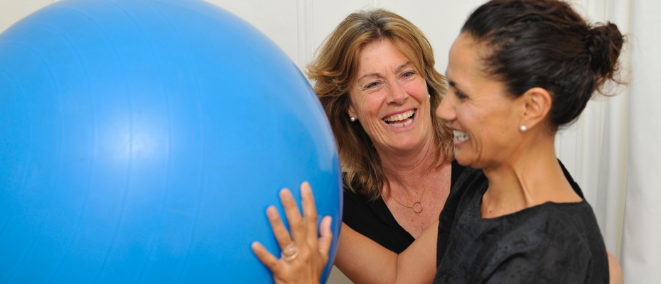 Pelvic Floor Physiotherapist Margie Humphreys smiling with patient