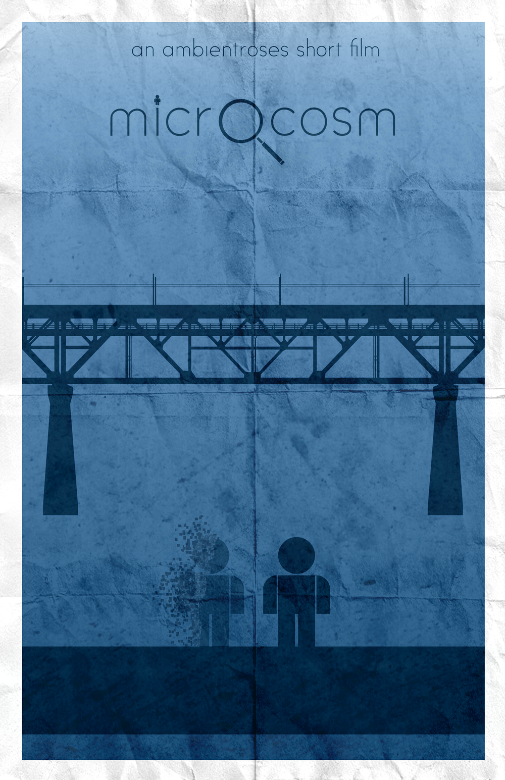 This poster depicts a scene from the original concept which would have shown another small individual, who fades away.
