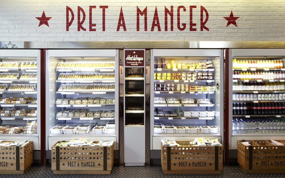 - From the walls right down to the packaging, design helps tell stories about Pret's food, coffee and people in ways that are fresh and human. Having won Brand of the Year 2016, Pret A Manger demonstrates how well they listen to their customer base and act on the insights.