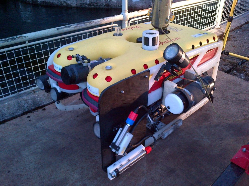 SLV-50 Subsea Laser Profiler mounted on ROV and used in hydroelectric dam inspection survey