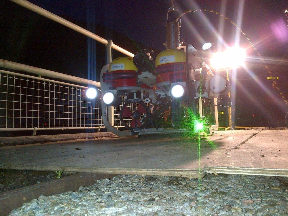 Savante's SLV-50 underwater laser profiler used for hydroelectric dam inspection