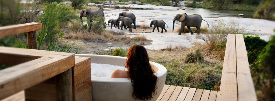 Baignoire extérieure Londolozi