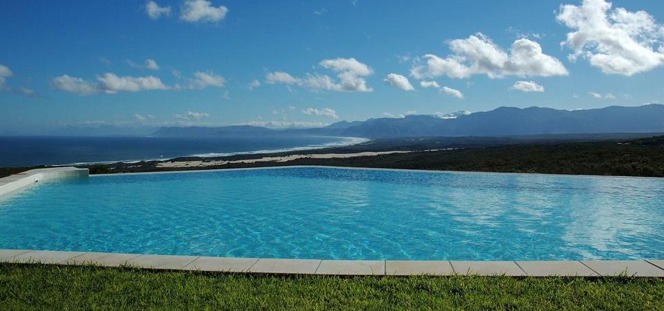 Vue panoramique piscine Grootbos