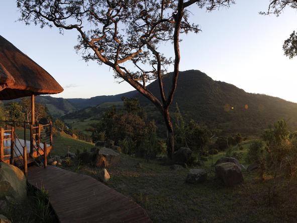 Vue panoramique coucher de soleil Karkloof Spa