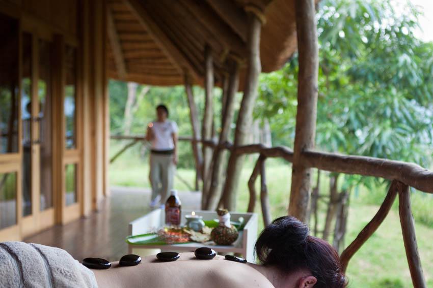 Massage en terrasse extérieure Karkloof Spa