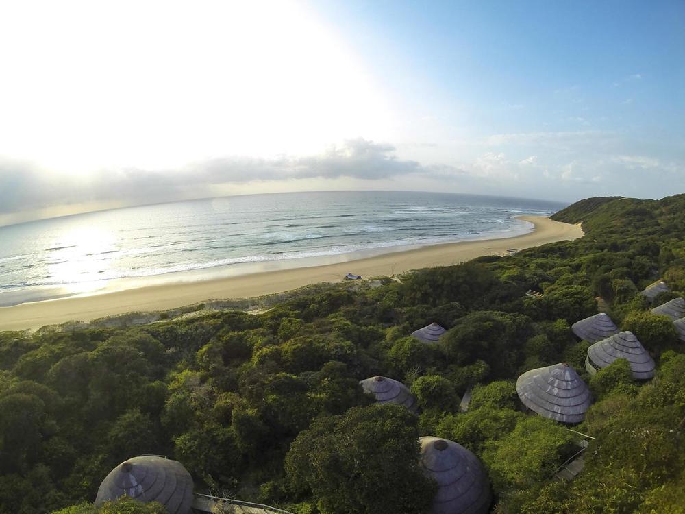 Vue extérieure Thonga Beach Lodge du ciel