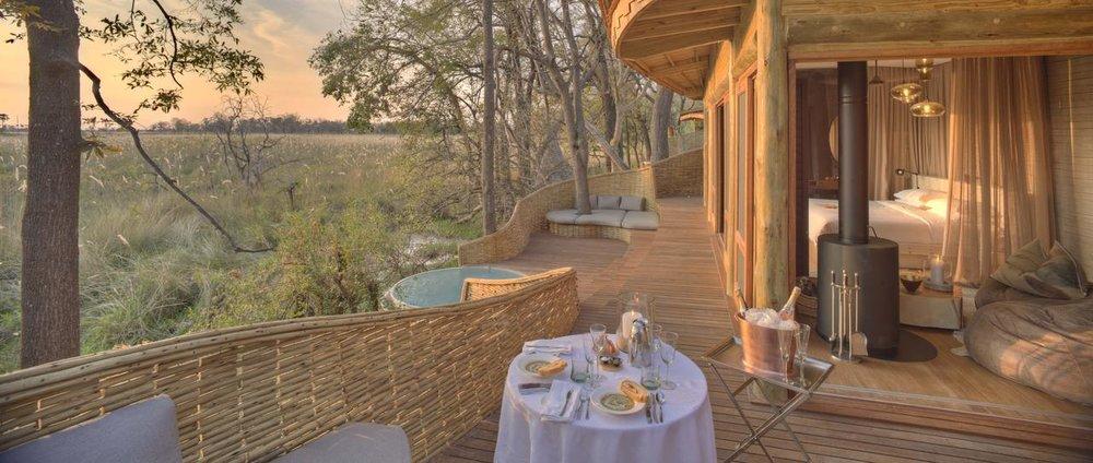 Terrasse de la chambre Sandibe Safari Lodge