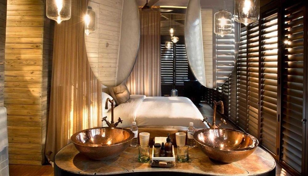 Salle de bains Sandibe Safari Lodge