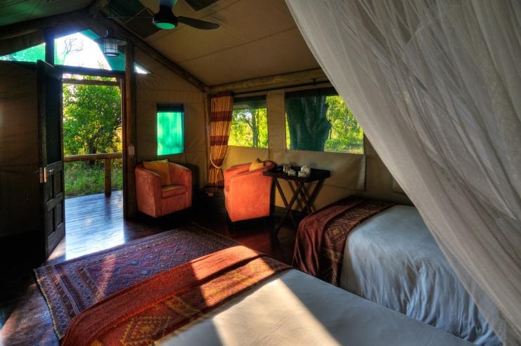 Vue chambre des lits Shinde