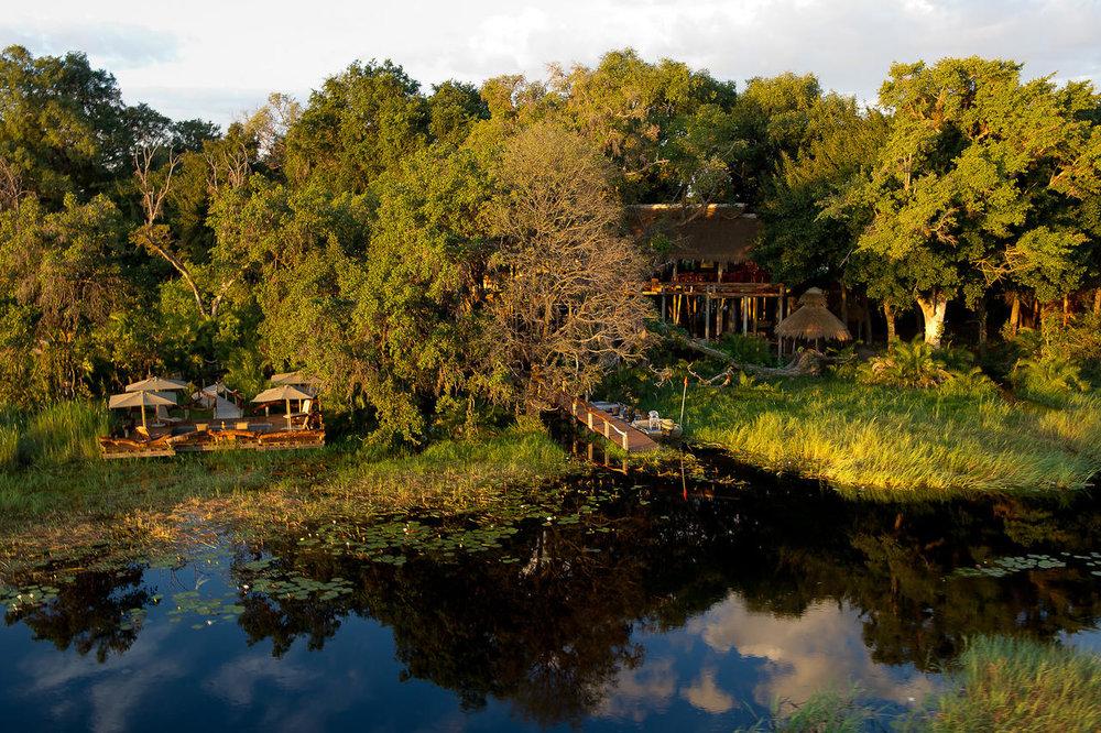 Vue du Lodge depuis la rivière Jao Camp