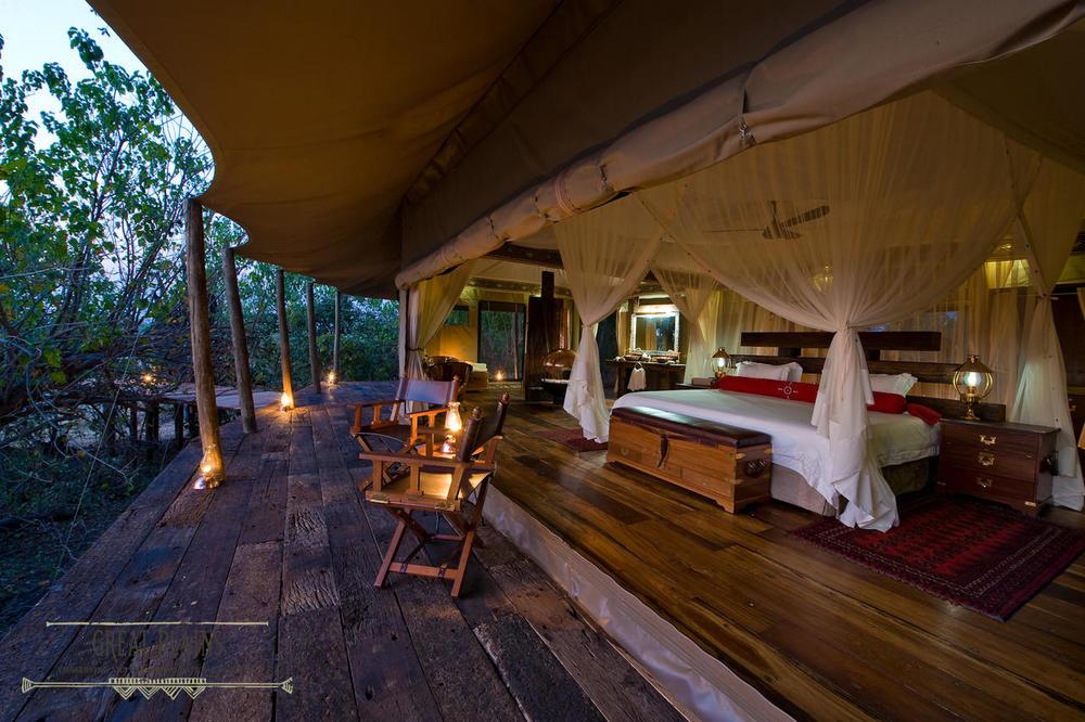 Terrasse de la chambre Zarafa Camp