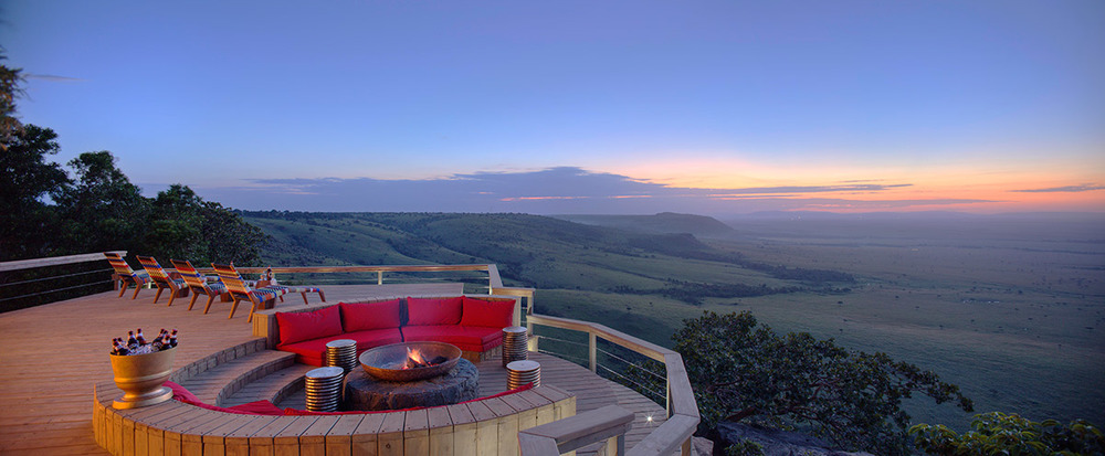 Vue panoramique de la Terrasse Angama Mara