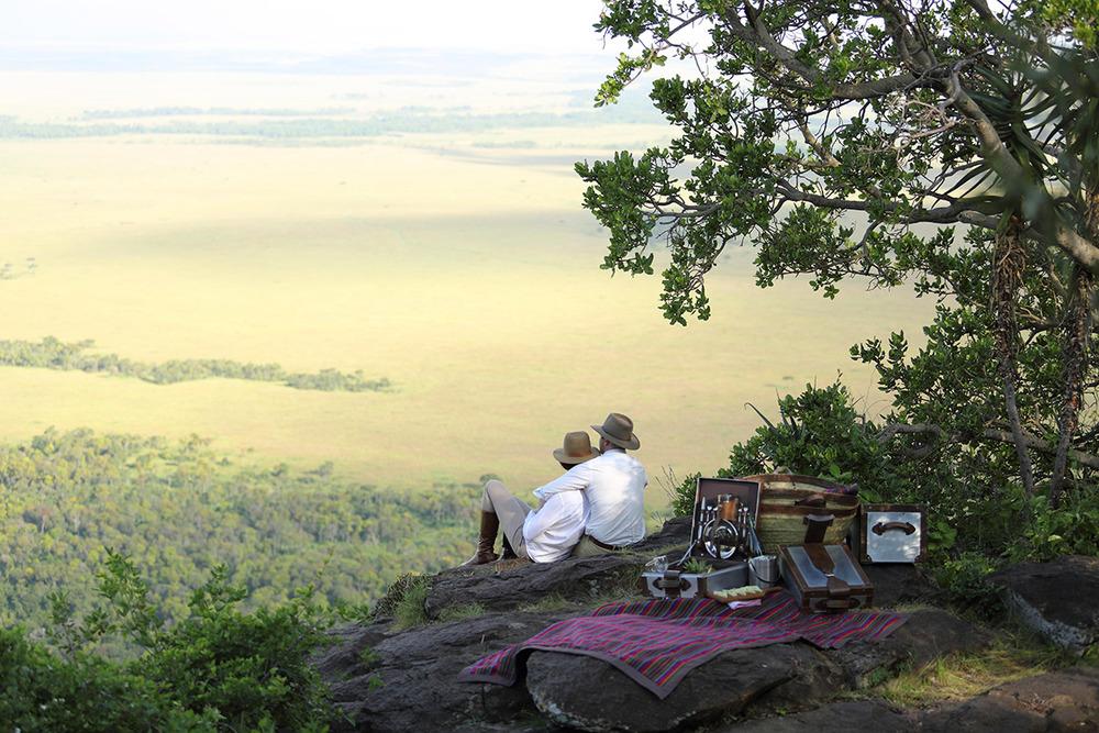 Vue panoramique sur les plaines Angama Mara