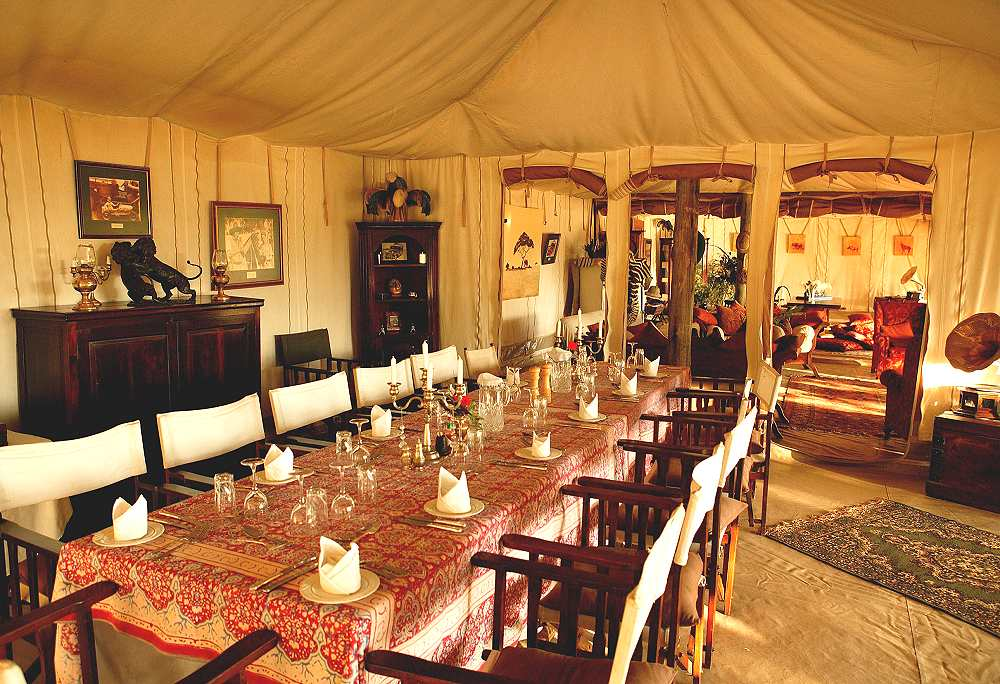 Salle à manger  Cottar's 1920s Safari Camp