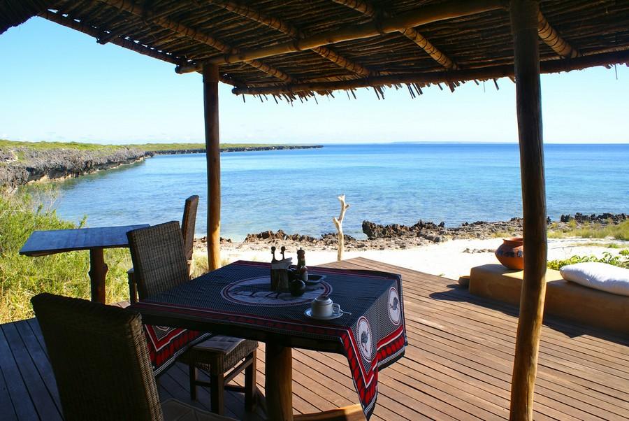 Terrasse vue plage Nuarro