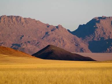 Vue panoramique du désert Wolwedans
