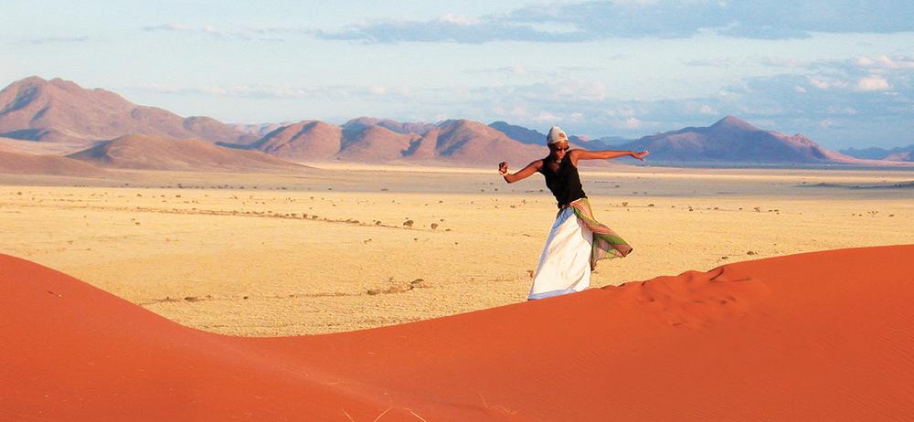 Promenade dans les dunes du désert Wolwedans