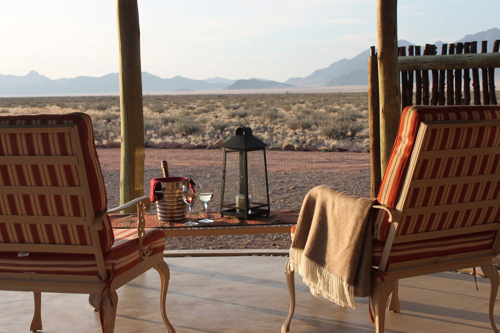 Vue de la Terrasse Hoodia Desert Lodge