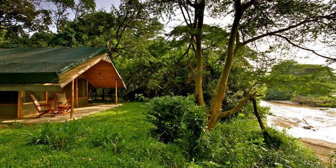 Vue extérieure d'une chambre Ishasha Wilderness Camp