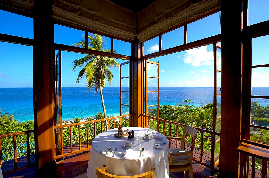 Déjeuner sur Terrasse Fregate Island