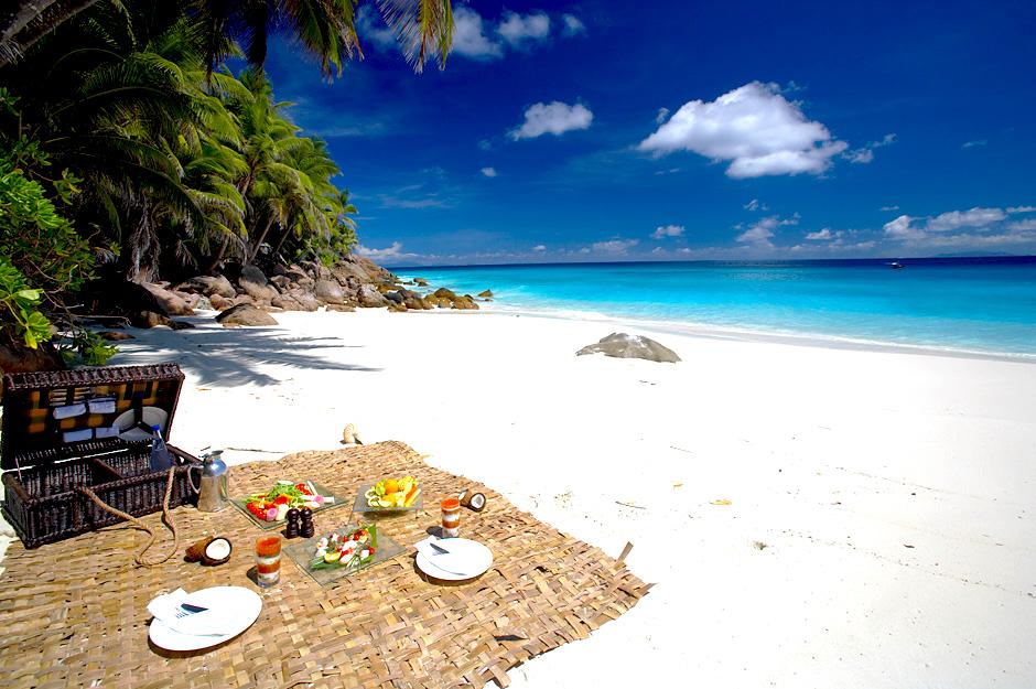 Pic-Nic sur plage Fregate Island