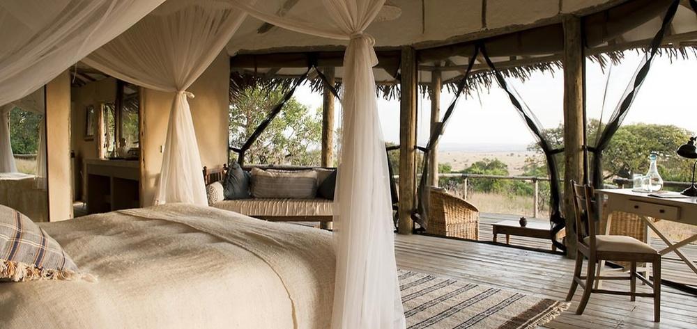 Vue de la chambre vers l'extérieure Nomad Lamai Serengeti