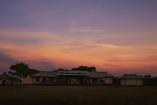 Coucher de soleil sur Singita Sabora Tented Camp