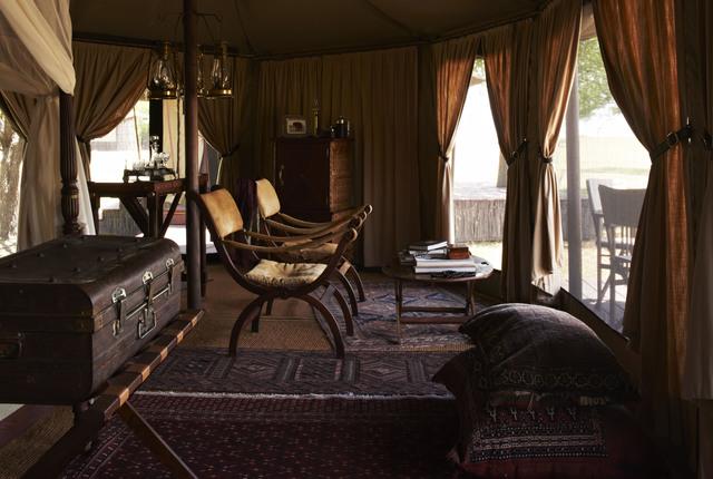Vue depuis chambre Singita Sabora Tented Camp