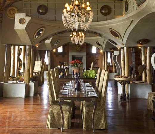 Salle à manger Ngorongoro Crater Lodge